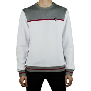 Ea7 Two Tone Sweatshirt in White