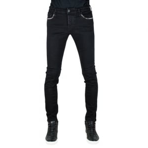 True Religion Tony Stud Jeans in Black