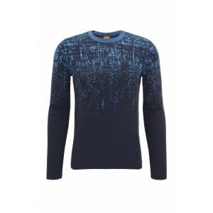 Boss Orange Kapixo Knitwear in Dark Blue
