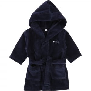 Boss Kids Bathrobe in Navy