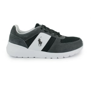 Ralph Lauren Polo Cordell Trainers in Charcoal