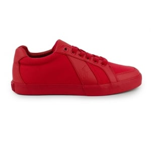 Ralph Lauren Polo Hugh-Ne Trainers in Red