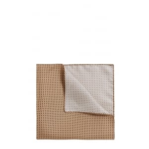 Boss Black Pocket Square Tie in Beige