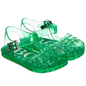 Boss Kids Jelly Sandals in Green