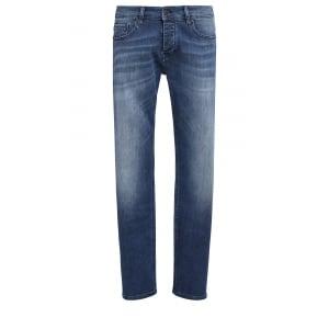 """Boss Orange Jeans Orange90 34"""" Long Leg in Mid Wash"""