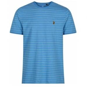 Luke Kids Ex Mark Crew Neck T-Shirt in Baby Blue