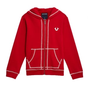 True Kids Hoodie Terry Sweatshirt in Red