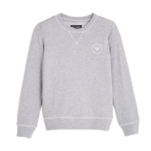 True Kids Crew Sweatshirt in Heather Grey