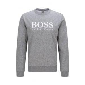 Boss Black Loungewear Sweatshirt in Charcoal