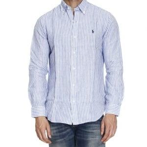 Ralph Lauren Polo Long Sleeve Lined Shirt in Blue