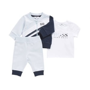 Boss Kids Tracksuits Tracksuit Set in Baby Blue