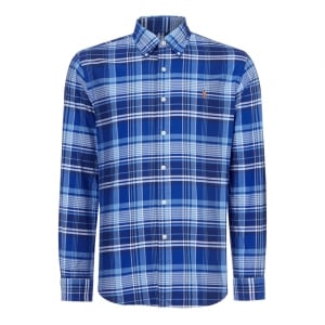 Ralph Lauren Polo Blue Check Long Sleeve Shirt in Navy