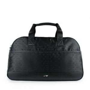 Armani Jeans Logo Holdall Bag in Black