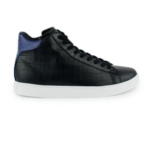 Armani Jeans Footwear Croc High Top Trainers in Black