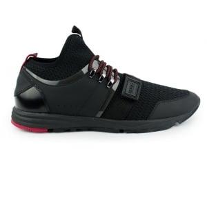 Hugo Hybrid Run Trainers in Black