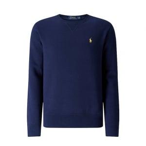Ralph Lauren Polo Long Sleeve Slim Sweatshirt in Navy