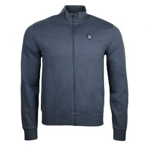 Ea7 Zip Up Sweatshirt in Dark Grey