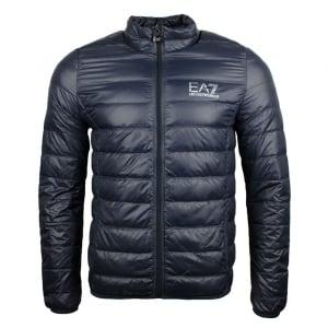 Ea7 Quilted No Hood Jacket in Dark Grey