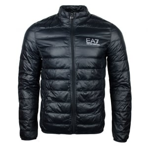 Ea7 Quilted No Hood Jacket in Black