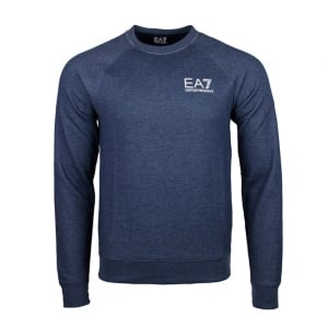 Ea7 Washed Out Sweatshirt in Navy