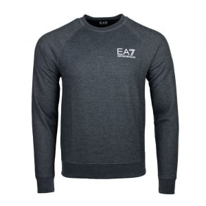 Ea7 Washed Out Sweatshirt in Dark Grey