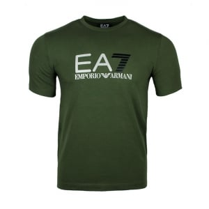 Ea7 Dotted Tee T-Shirt in Green