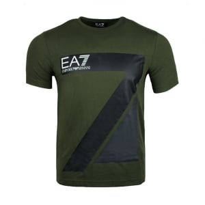 Ea7 Big EA7 Logo T-Shirt in Green