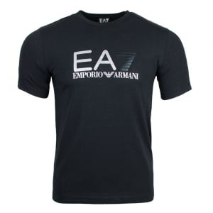 Ea7 Dotted Tee T-Shirt in Black