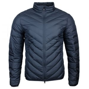 Ea7 Down Puff Jacket in Dark Grey