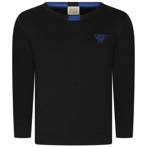 Armani Junior Pullover Knitwear in Black