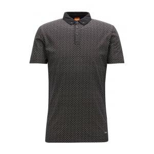 Boss Orange Perhaps Polo Shirt in Black