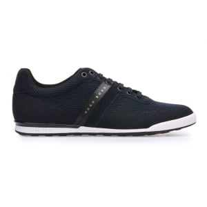 Boss Green Arkansas Trainers in Dark Blue