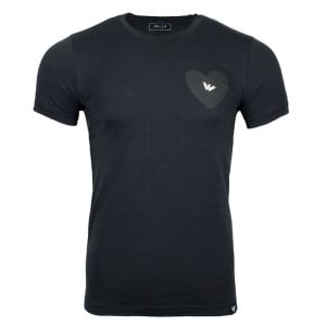 Armani Jeans Silver Logo T-Shirt in Navy