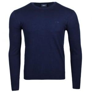 Armani Jeans Logo Knitwear in Navy
