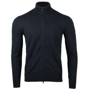 Armani Jeans Zip Up Knitwear in Black