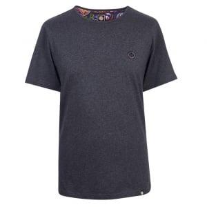 Pretty Green Mitchells T-Shirt in Dark Grey