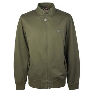 Pretty Green Harrington Jacket in Khaki