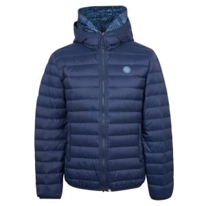 Pretty Green Quilted Jacket in Navy