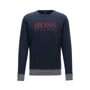 Boss Black Loungewear Sweatshirt in Dark Blue