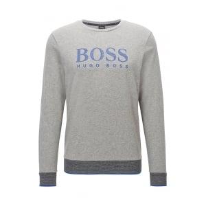 Boss Black Loungewear Sweatshirt in Grey
