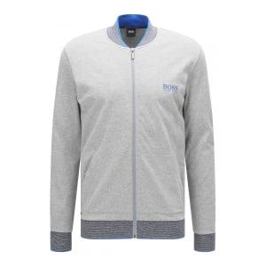 Boss Black Loungewear College Jacket in Grey