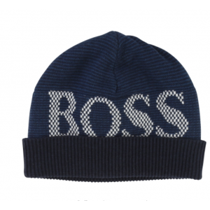 Boss Kids Hats Wool Hat in Navy