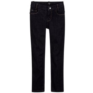 Boss Kids 12+ Denim Boss Jeans in Dark Wash