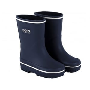 Boss Kids Wellies in Navy