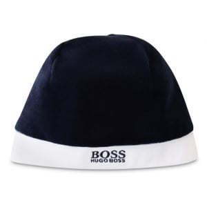 Boss Kids Newborn Hat in Navy