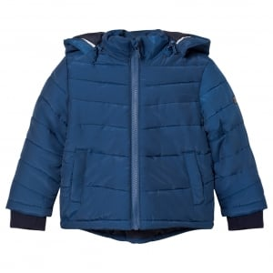 Boss Kids Puffer Coat in Dark Blue