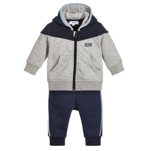 Boss Kids Tracksuit Set in Grey