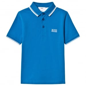 Short Sleeve Core Polo Shirt in Blue