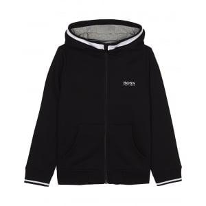 Boss Kids Boss Zip Up Sweatshirt in Black