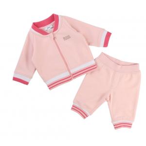Boss Kids Newborn Tracksuit in Pink